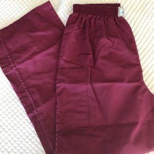 Pants - Burgundy Scrub Pants